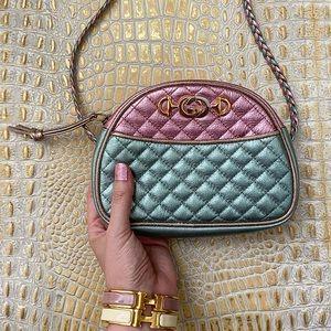 Gucci Laminated Calfskin Mini Traputata Bag